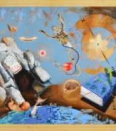 Zakir Hussain | Acrylic Painting title Iqra on Canvas | Artist Zakir Hussain Gallery | ArtZolo.com