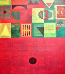 Untitled 2 | Painting by artist Vivek Nimbolkar | acrylic | Canvas