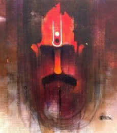 Figurative Oil Art Painting title 'Sadhu I' by artist Amol Pawar
