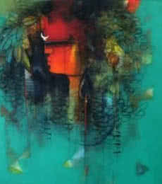 Shiv   Painting by artist Amol Pawar   mixed-media   canvas