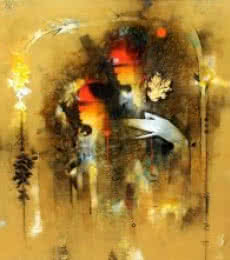 Uma Pati | Painting by artist Amol Pawar | mixed-media | canvas