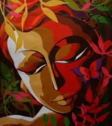 Krishna I | Painting by artist Dhananjay Mukherjee | acrylic | Canvas