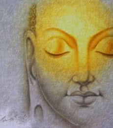 Prince Chand | Acrylic Painting title Buddha 2 on Canvas | Artist Prince Chand Gallery | ArtZolo.com