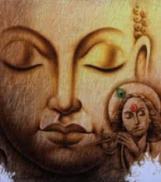 Buddha 1   Painting by artist Prince  Chand   acrylic   Canvas