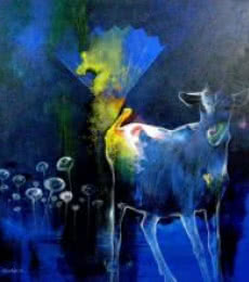Dream way | Painting by artist Pradip Sengupta | acrylic | Canvas