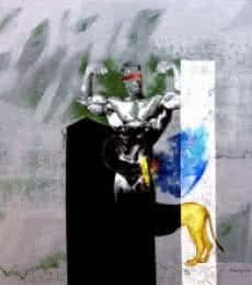 Leo The great   Painting by artist Pradip Sengupta   acrylic   Canvas