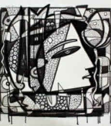 Figurative Ink Art Drawing title Untitled 13 by artist Girish Adannavar