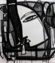 Figurative Ink Art Drawing title Untitled 5 by artist Girish Adannavar