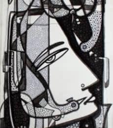 Untitled 2 | Drawing by artist Girish Adannavar |  | ink | Canvas