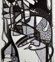 Untitled 1 | Drawing by artist Girish Adannavar |  | ink | Canvas