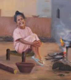 Priceless Happiness   Painting by artist Kulwinder Singh   oil   Canvas