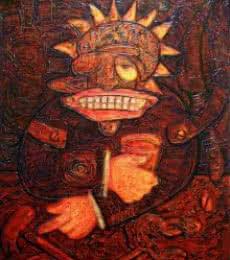 New Age Taverna Patron | Painting by artist yolanda desousa. | acrylic | canvas