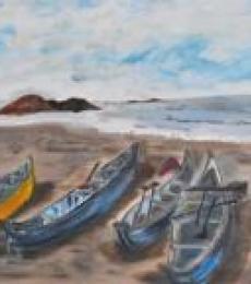 Boat Series1, | Painting by artist Vidya Lakshmi | oil | Canvas