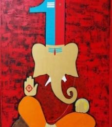 Pradhv - 2 | Painting by artist Pankaj Sachdeva | mixed-media | canvas