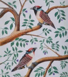 Santosh Patil Paintings | Animals Painting - Birds Painting 47 by artist Santosh Patil | ArtZolo.com