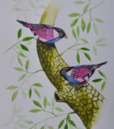 Santosh Patil Paintings | Animals Painting - Birds painting 58 by artist Santosh Patil | ArtZolo.com