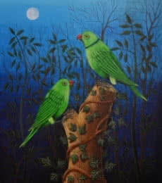 Birds Painting 102 | Painting by artist Santosh Patil | acrylic | Canvas