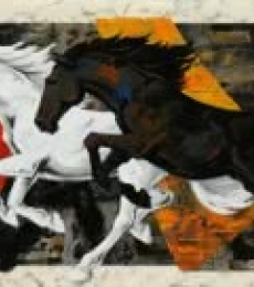 Animals Acrylic Art Painting title 'Horse 119' by artist Devidas Dharmadhikari