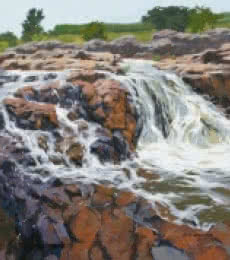 Landscape Acrylic Art Painting title 'Pravah' by artist Abhijit Jadhav