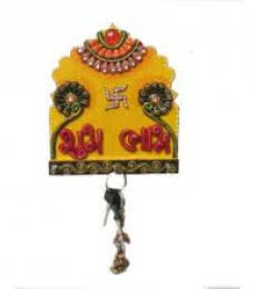 Ecraft India | Shubh Labh Key Hanger Craft Craft by artist Ecraft India | Indian Handicraft | ArtZolo.com