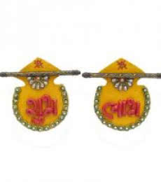 Ecraft India | Shubh Labh Door Hanging Craft Craft by artist Ecraft India | Indian Handicraft | ArtZolo.com