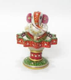 Ecraft India | Ganesha On Marble Stand Craft Craft by artist Ecraft India | Indian Handicraft | ArtZolo.com