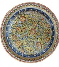 Plate With Flowers   Craft by artist Ecraft India   Marble