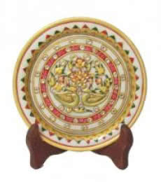 Ecraft India | Floral Marble Plate Craft Craft by artist Ecraft India | Indian Handicraft | ArtZolo.com