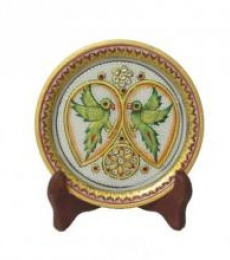 Ecraft India | Parrot Marble Plate Craft Craft by artist Ecraft India | Indian Handicraft | ArtZolo.com