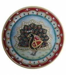 Peacock Plate | Craft by artist Ecraft India | Marble
