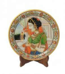Lady Bird Etched Plate | Craft by artist Ecraft India | Marble