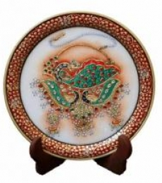 Marble Plate 1 | Craft by artist Ecraft India | Marble