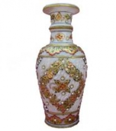 Gold Painted Marble Vase   Craft by artist Ecraft India   Marble