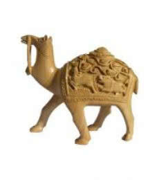 Hand Carved Camel | Craft by artist Ecraft India | wood