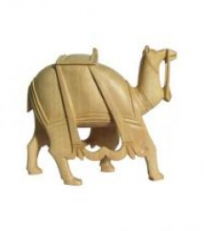 Wooden Camel | Craft by artist Ecraft India | wood