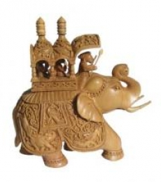 Ambabari Elephant | Craft by artist Ecraft India | wood