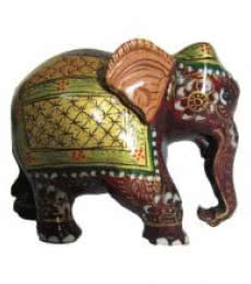 Ecraft India | Painted Elephant Statue Craft Craft by artist Ecraft India | Indian Handicraft | ArtZolo.com