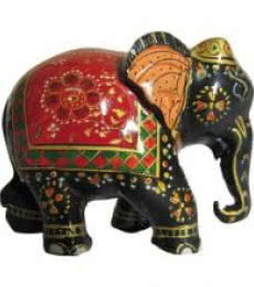 Ecraft India | Painted Elephant Statue Craft Craft by artist Ecraft India | Indian Handicraft | ArtZolo.com