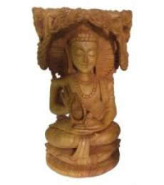 Lord Buddha Under Tree | Craft by artist Ecraft India | wood