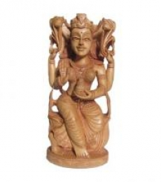 Ecraft India | Goddess Lakshmi Sitting With Kala Craft Craft by artist Ecraft India | Indian Handicraft | ArtZolo.com