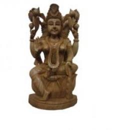 Ecraft India | Goddess Lakshmi Sitting With Kala Craft Craft by artist Ecraft India | Indian Handicraft | ArtZolo.com