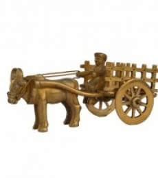 E Craft | Metal Cow Cart Craft Craft by artist E Craft | Indian Handicraft | ArtZolo.com