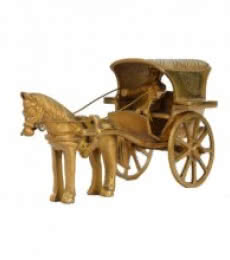 E Craft | Metal Showpiece of Chariot Craft Craft by artist E Craft | Indian Handicraft | ArtZolo.com