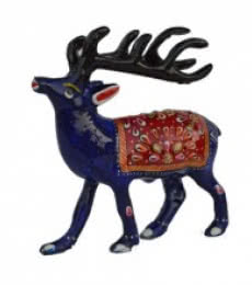 Meenakari Deer Figurine | Craft by artist E Craft | Metal
