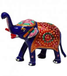 E Craft | Meenakari Delightful Elephant Craft Craft by artist E Craft | Indian Handicraft | ArtZolo.com