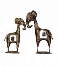 Metal Decorative Giraffe Couple | Craft by artist E Craft | Metal
