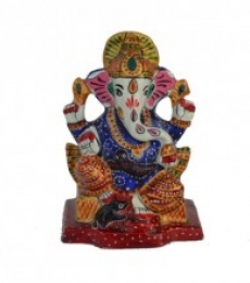 E Craft | Meenakari Charurbhuj Lord Ganesha statue Craft Craft by artist E Craft | Indian Handicraft | ArtZolo.com