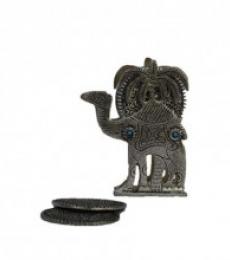 Antique Oxidized Tea Coaster - Camel | Craft by artist E Craft | Metal