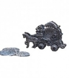 Oxidized Tea Coaster - Chariot | Craft by artist E Craft | Metal