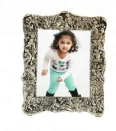E Craft | White Metal Exclusive Photo Frame Craft Craft by artist E Craft | Indian Handicraft | ArtZolo.com